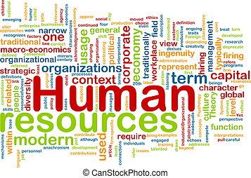 人間, 概念, 資源, 背景