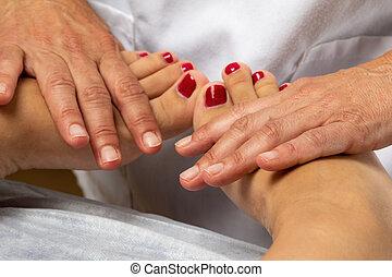 人間, feet., セラピスト, manipulative, 待遇