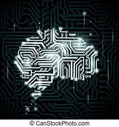 人類腦子, 在, the, 形式, ......的, circuits.