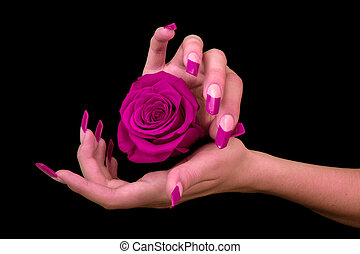 人類, 手指, 由于, 長, 手指甲
