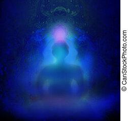 人類, 能量, 身體, 氛圍, chakra, 能量