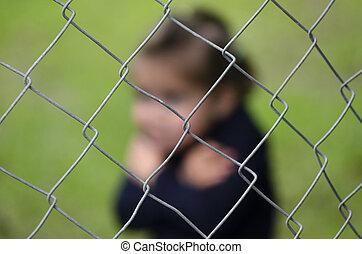 人類, 非法交易, ......的, 孩子, -, 概念, 相片