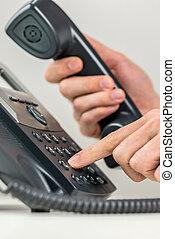 人, から, 電話, ダイアルする, landline