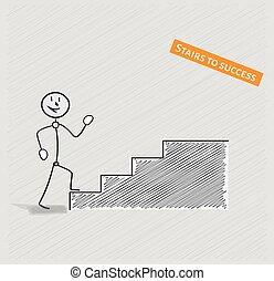 人, そして, 階段, へ, 成功