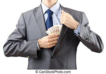 人, ∥で∥, お金, 隔離された, 上に, ∥, 白