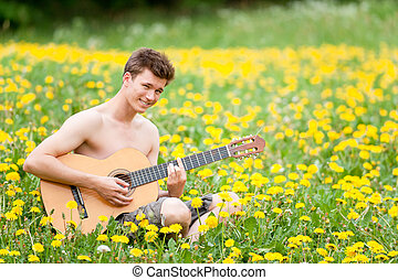 人, ∥で∥, ギター