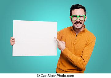 人, ∥で∥, 緑, ガラス, 保有物, ブランク, 白人の委員会