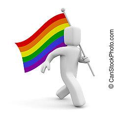 人, ∥で∥, 虹, ゲイの誇り, 旗