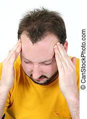 人, ストレス, 頭痛