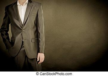 人, スーツ