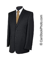 人, スーツ, 隔離された