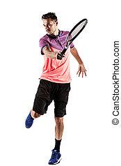 人, テニス, 遊び, 若い