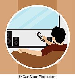 人, テレビの 監視