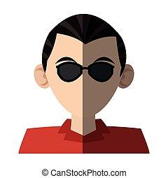 人, デザイン, 隔離された, avatar