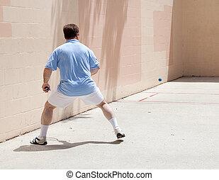 人, プレーする, racquetball