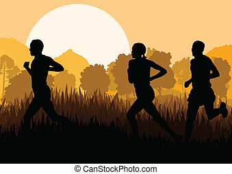 人, マラソン走者, 女性