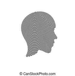 人, ライン, illustration., ベクトル, 顔, アイコン
