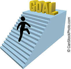 人, 上昇, ステップ, 棒 図
