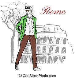 人, 中に, ローマ