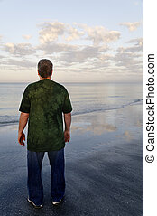 人, 中に, 緑のシャツ, ∥において∥, ∥, 海洋