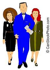 人, 中に, 青い訴訟, ∥で∥, 2, 女性