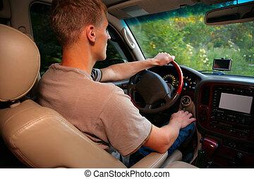 人, 中に, offroad, 自動車