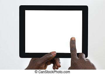 人, 使うこと, タブレット, デジタル