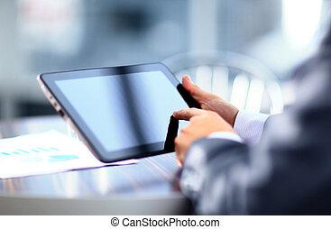 人, 保有物, タブレット, デジタル