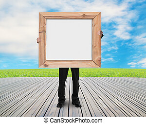 人, 保有物, ブランク, 白人の委員会, ∥で∥, 木製のフレーム