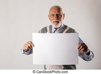 人, 保有物, 白, paper., 古い