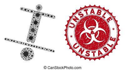 人, 切手, モザイク, coronavirus, textured, アイコン, 不安定