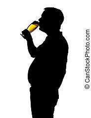 人, 喝酒, 啤酒