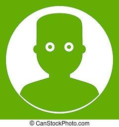 人, 在暗處, 圖象, 綠色