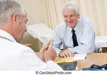 人, 在, doctor\\\'s, 辦公室, 微笑