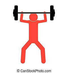 人, 媒介, weightlifting, 色彩丰富, pictogram