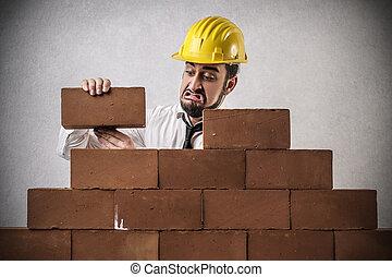 人, 建築物, 牆