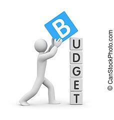 人, 建造, a, 預算