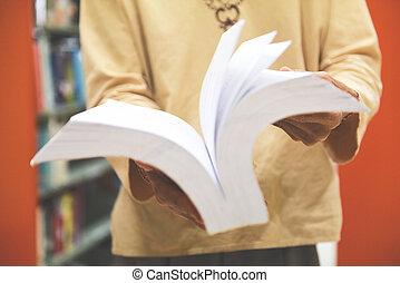 人, 想像力, 知恵, 読む本, 教育, 開いた, 図書館, 宗教, 概念