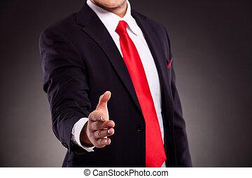 人, 手, ビジネス, 提供, 振動