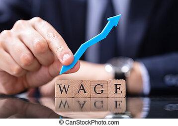 人, 手, 成長, 保有物, 矢, 賃金