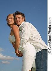 人, 抱擁, ∥, 若い女性