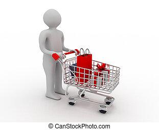 人, 推, a, 購物車