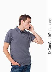 人, 携帯電話, 若い