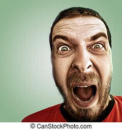 人, 有趣的脸, 发出尖叫声, 震惊