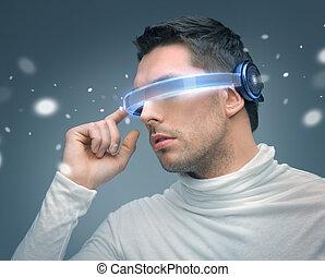 人, 未来派, ガラス