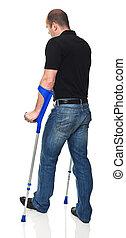 人, 松葉杖