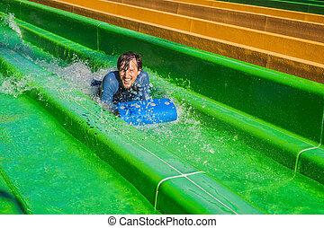 人, 楽しみ, 水上公園, 持つこと