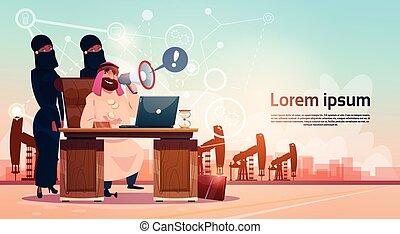 人, 概念, コンピュータ, ビジネス, 仕事, ラップトップ, アラビア人, プラットホーム, オイル, 背景, 用具一式, クレーン, pumpjack, 富