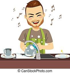 人, 洗器皿