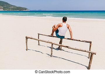 人, 浜, ビューを支持しなさい